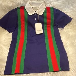 Gucci authentic kids size 6 polo tshirt